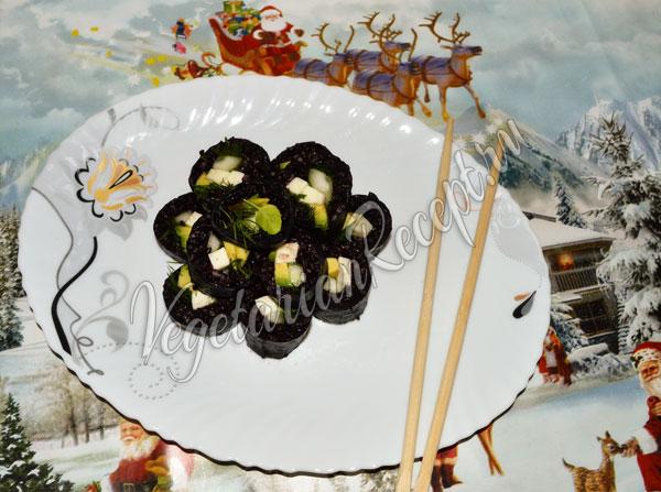 Роллы с красным (бурым) рисом Рубин