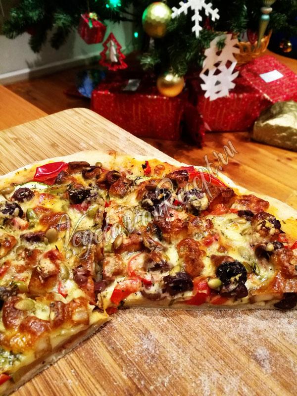 Рецепт теста для пиццы на закваске