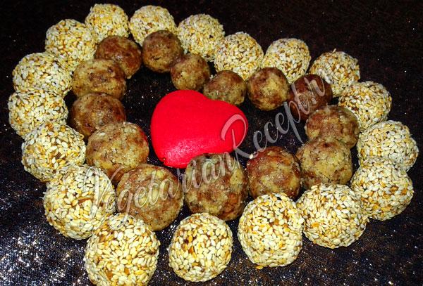 Конфеты из сухофруктов и орехов - рецепт