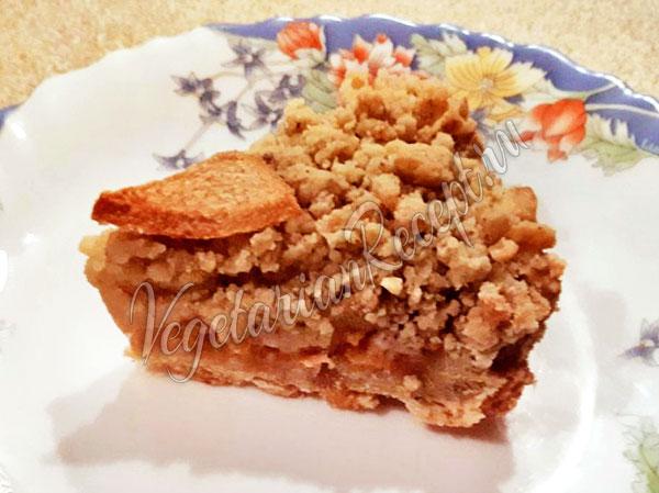 Пирог с айвой - постный рецепт