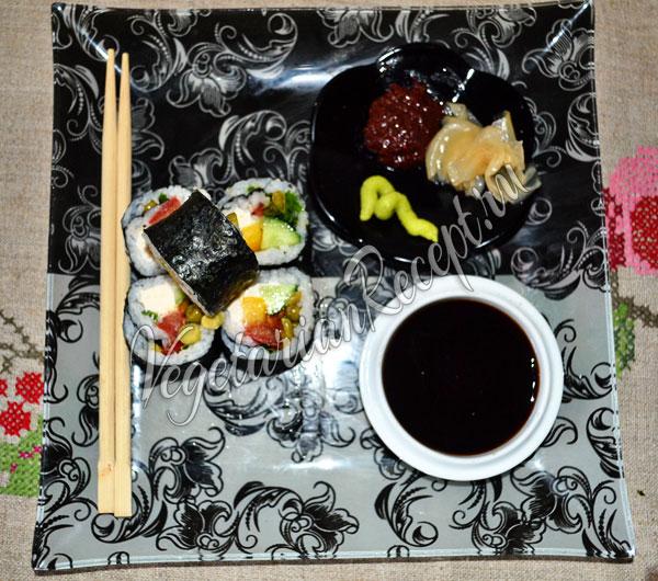 Суши без рыбы - рецепт
