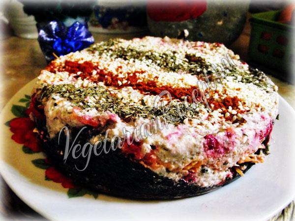 Рецепт сыродческого салата Селедка под шубой