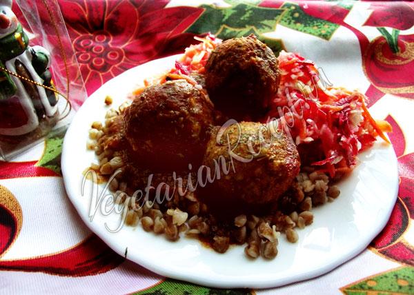 Фрикадельки - вегетарианский рецепт