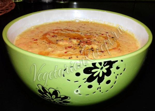 Сыроедческий суп-пюре из кукурузы