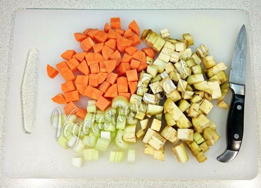 Овощные кубики