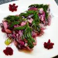 Салат из свеклы и фасоли консервированной красной
