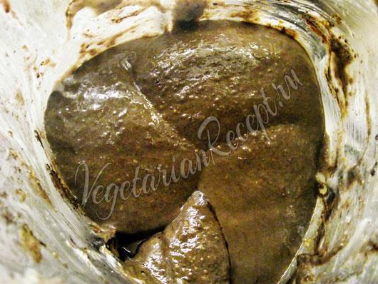 Сыроедное шоколадное тесто для блинчиков