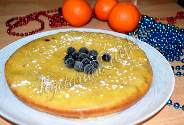 Постный апельсиновый бисквит - рецепт