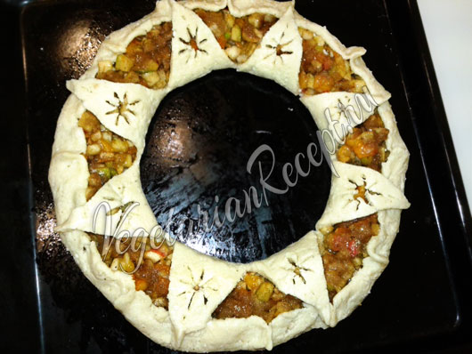 Пирог венок на Рождество