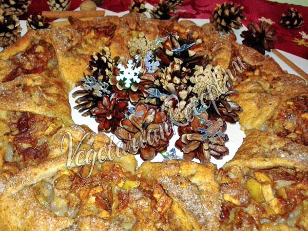 Рождественская выпечка - венок
