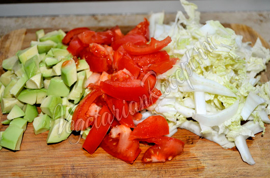 Овощи и авокадо