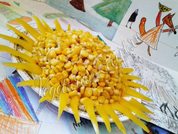 Салат Солнышко с кукурузой