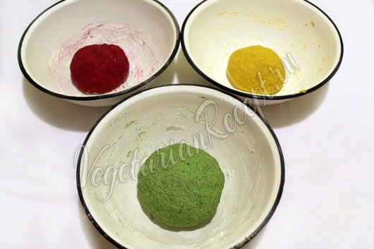 Разноцветные равиоли - рецепт