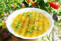 Постный щавелевый суп