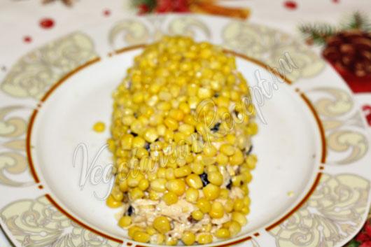 Салат в форме кукурузы