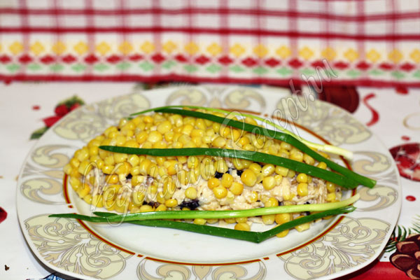 Салат Початок кукурузы - рецепт с фото