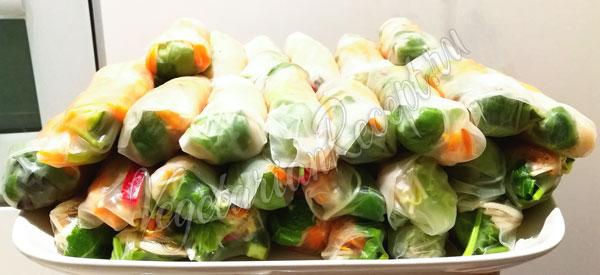 Спринг-роллы из рисовой бумаги с овощами