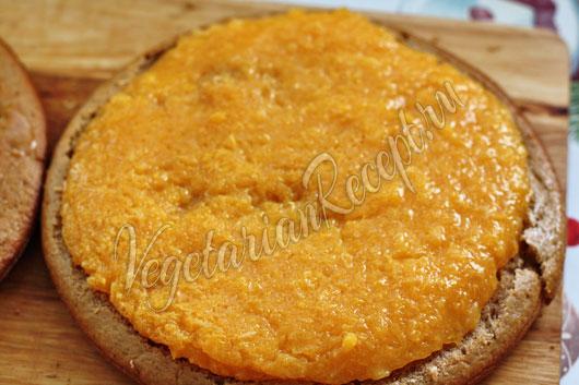 Выложить слой мандаринов