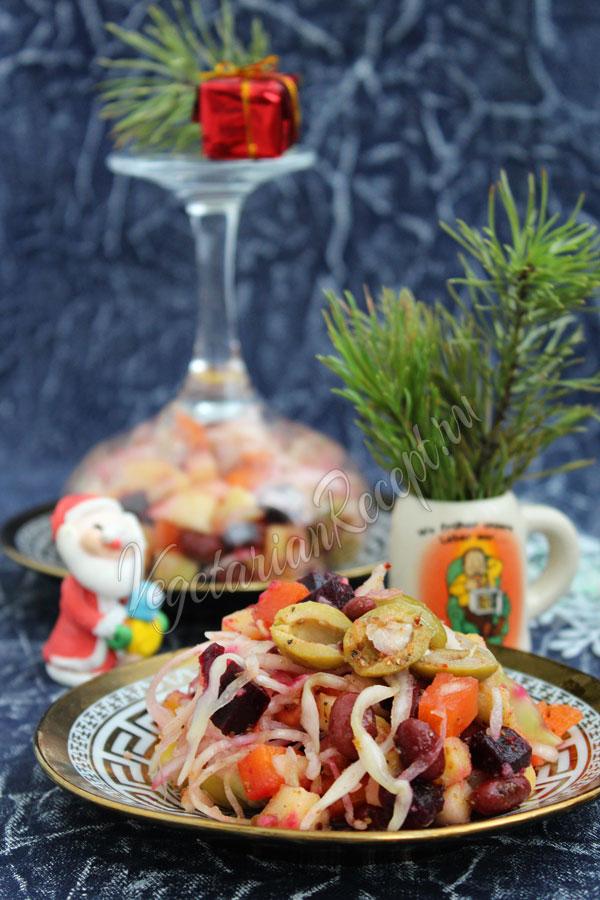 Салат винегрет на Новый год