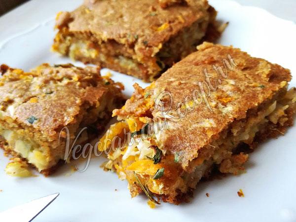 Пирог с капустой и тыквой