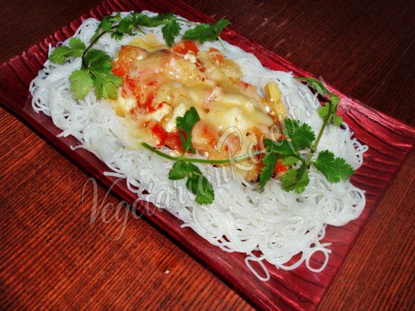 Рецепт рисовой лапши с овощами
