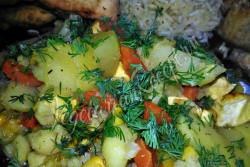Сабджи с кукурузой в духовке
