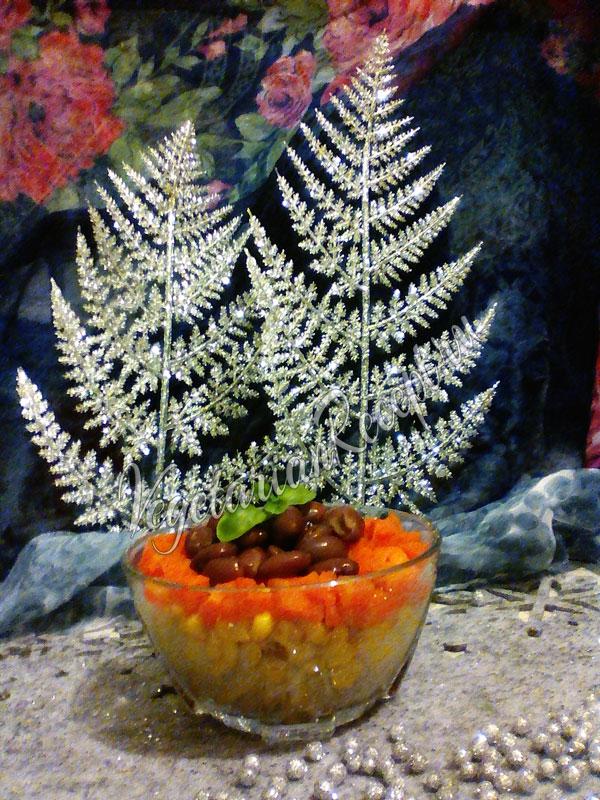 Салат с красной фасолью и кукурузой консервированной