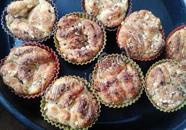 Творожные булочки в духовке без дрожжей