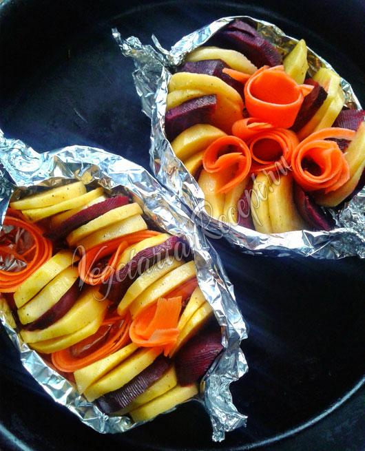 Запекаем овощи для винегрета в духовке
