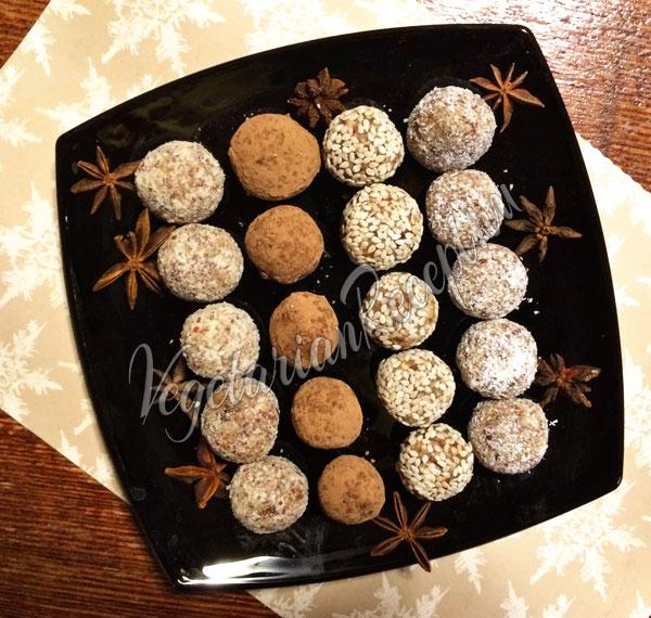 Конфеты из фиников и орехов - рецепт