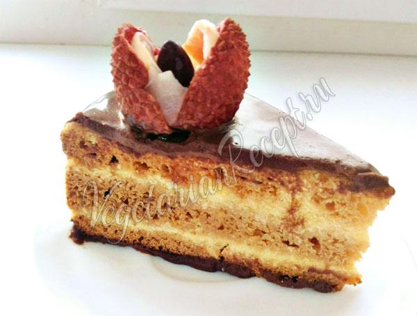 Рецепт медового бисквитного торта