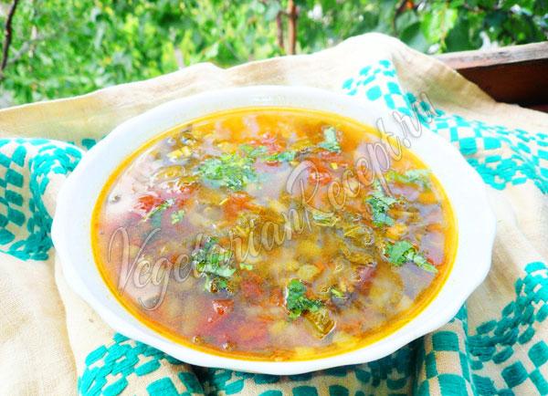 Суп с ревенем