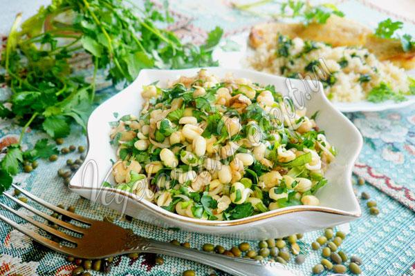 Салат из пророщенного маша - рецепт