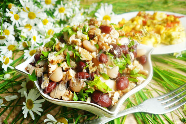 Салат с фасолью - рецепт