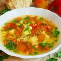Постный суп из цветной капусты