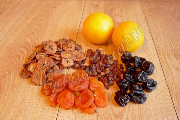 Ингредиенты - сухофрукты