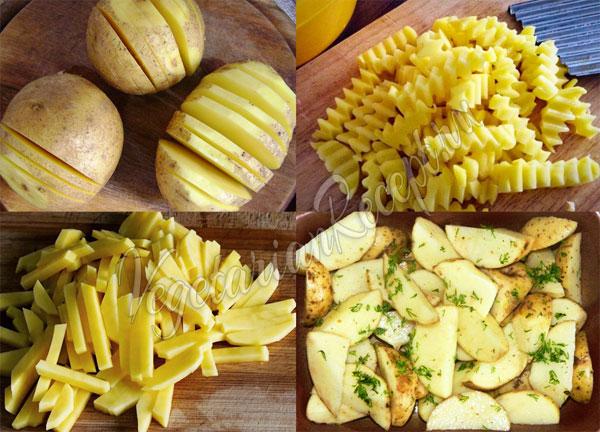 Нарезать картофель