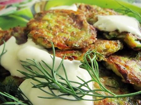 Оладьи из кабачков - рецепты
